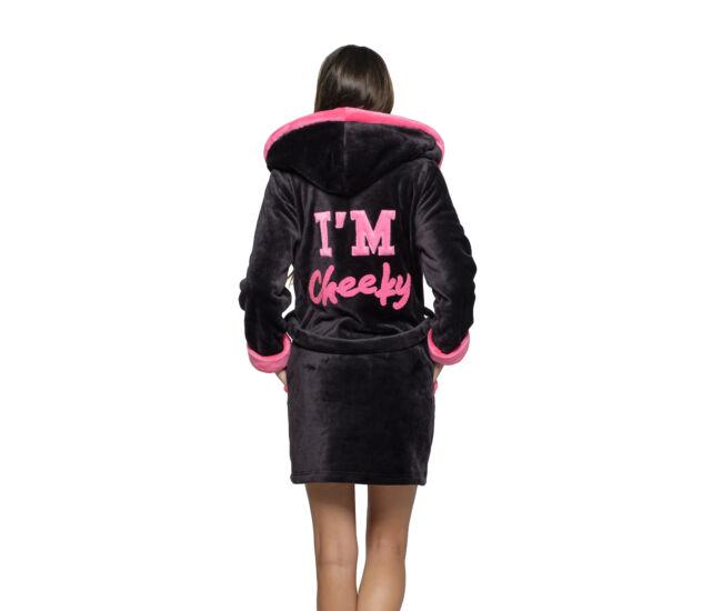 POPPY DK I'm Cheeky köntös - fekete-UV pink