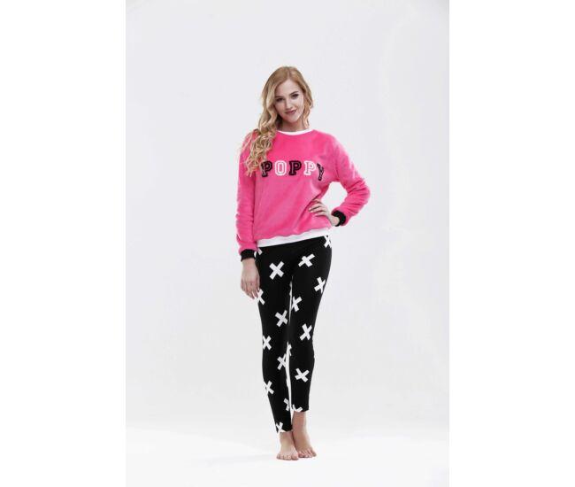 poppy-pizsama-brooklyn- fekete-feher-pink