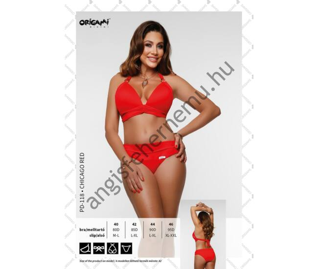 ORIGAMI BIKINI PD-118 CHICAGO RED