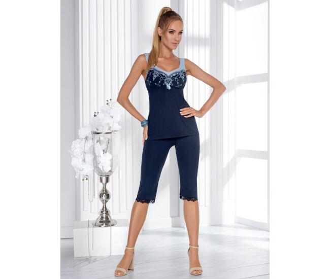 KARINA Blue Exclusive 3/4-es női pizsama