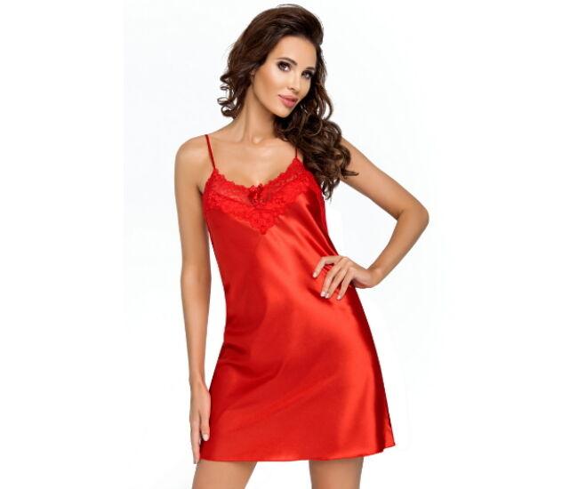EVA Red Luxus szatén hálóing