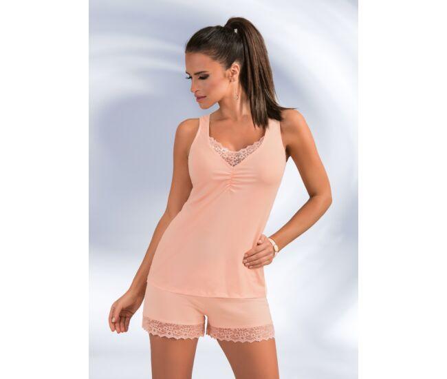 LUCY 1/2 Peach Exclusive női pizsama