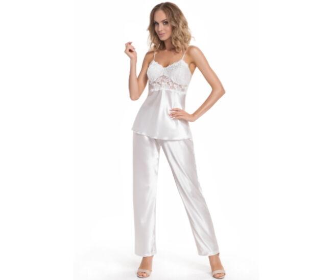 VENUS Ekrü Exclusive szatén női pizsama