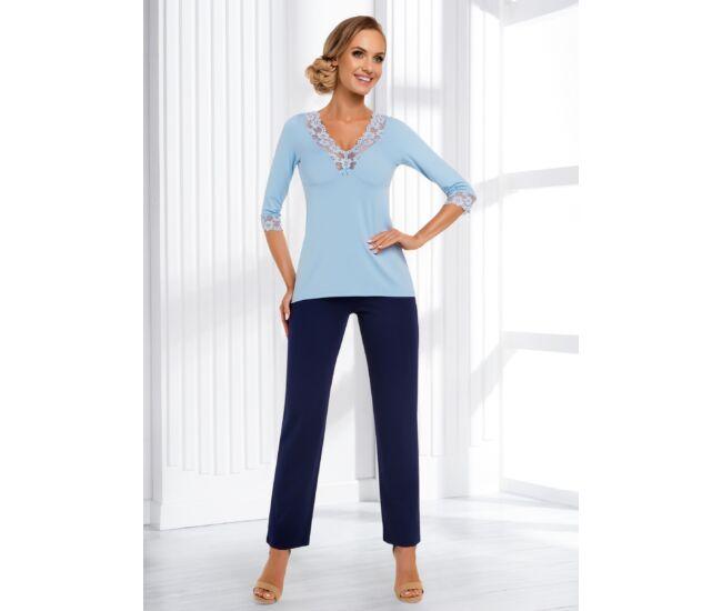 SANDRA Light Blue Exclusive női pizsama