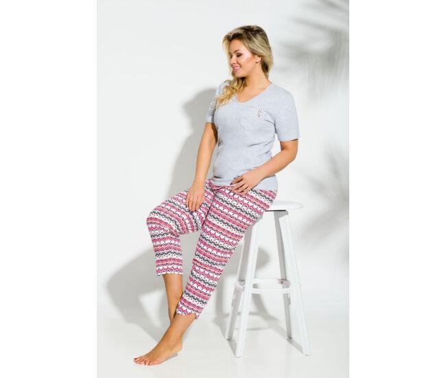 ETNA Grey 2XL-3XL női pizsama (2192-1)