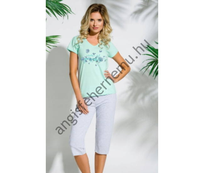 SYLWIA Green női pizsama (086-1)