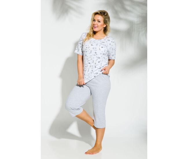 KATE Grey 4XL-5XL női pizsama (2191-2)