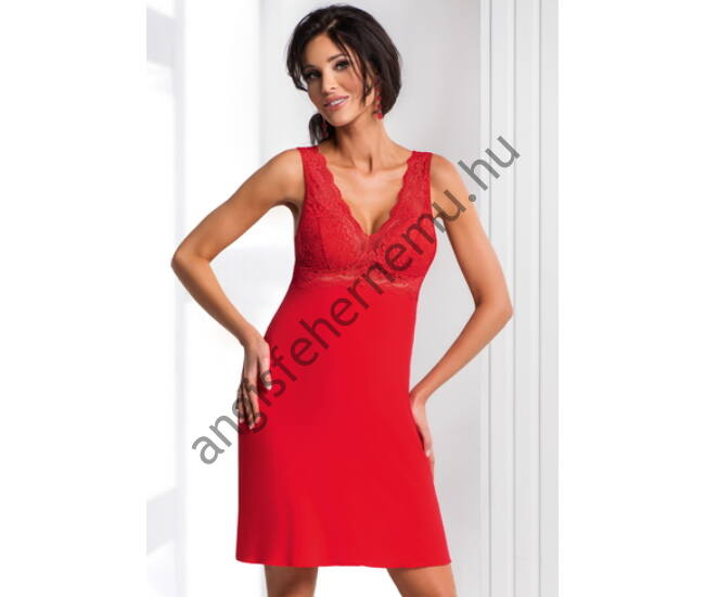 CHANTAL Red Exclusive szivacsos női hálóing