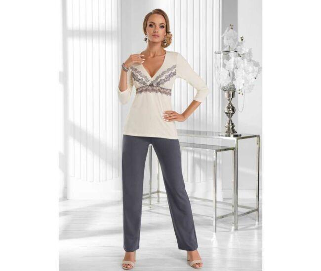 AURA Ekrü Exclusive női pizsama