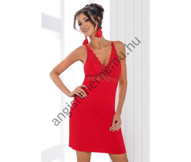 LILY Red Exclusive szivacsos női hálóing