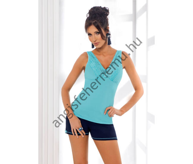 KLAUDIA 1/2 Turquoise  Exclusive női pizsama