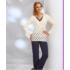 SONIA Ekrü Exclusive női pizsama  - S