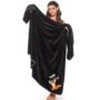 Kép 1/2 - POPPY VUK hímzett takaró - fekete